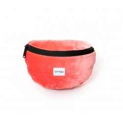PEACH VELVET BUM BAG