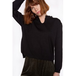 BLACK SWEATER ZIP MEISÏE