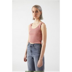 MAXIDA TOP TERRACOTTA DRDENIM